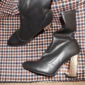 Qupid Black Booties 8 NWOT